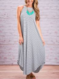 casual summer dresses summer dresses stripes straps maxi swing casual dress classyin