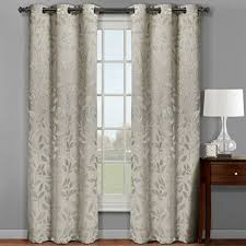 Insulated Curtains Pair Of Two Top Grommet Micro Suede Jacquard Blackout Weave