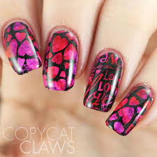 copycat claws sunday stamping valentine u0027s day nails