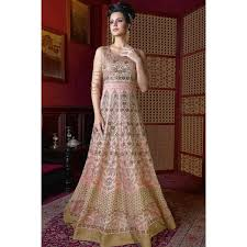 light pink silk dress designer and stylish silk gown dress in light pink color dmv15158