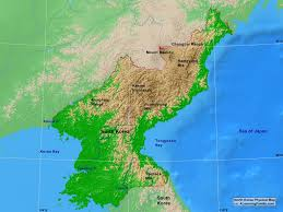 East Asia Physical Map by North Korea Physical Map A Learning Family