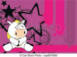 imagenes de unicornios en caricatura bebé unicornio caricatura plano de fondo sentarse vectores