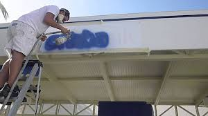 painting canvas awnings how to paint on fabric canvas awnings in florida youtube
