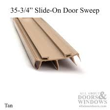 Exterior Door Bottom Seal Slide On Door Sweep Slide On Door Bottom All About Doors