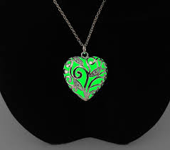 glow in the necklaces green necklace gifts for glow heart pre gift