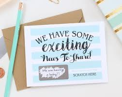 pregnancy announcement cards baby expecting cards etsy