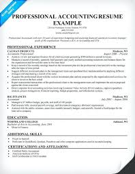 accounting resume examples pdf template free samples format