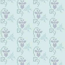 cross stitch embroidery pattern sm border violet butterfly