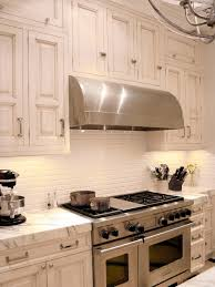 appliances farmhouse kitchen with gloss subway tile backsplash