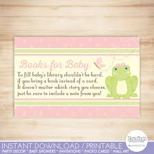 instant download baby shower invitations frog baby shower book request cards frog baby shower