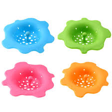 bathroom sink hair catcher flower shaped silicone kitchen sink strainer filter sewer drain