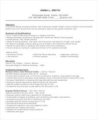 Resume Example For Medical Assistant by Medical Assistant Resume 9 Free Sample Example Format Free