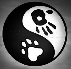 how to draw yin yang human and dog step by step symbols pop
