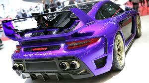 porsche purple gemballa previews porsche based avalanche with over 800 horsepower