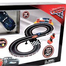 pixar cars 3 slot racing system lightning mcqueen vs jackson storm