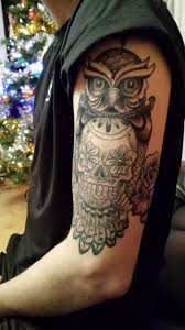 sugar skull owl eric kilmartin killer tattoos athlone ireland