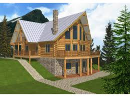 a frame home designs cabin plans mountain plan luxury log floor with wrap around porch