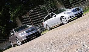 Comparatif Si E Auto B Essai Comparatif Mercedes Classe E 200 Cdi 136 Ch Vs Skoda