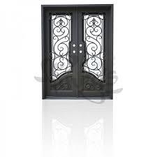 All Glass Exterior Doors Wrought Iron Entry Doors Single Exterior Iron Front