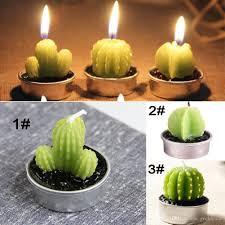 cactus home decor home decor rare mini cactus candle table tea light home garden