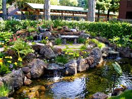 patio handsome water features landscaping irrigation feature