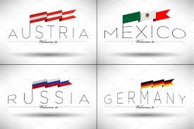 World National Flags With Names 270 World Flags Icons Creative Market