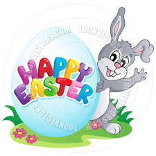 cartoon happy easter bunny sign by clairev toon vectors eps 37565