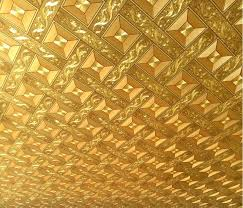 where to buy gold foil aliexpress buy gold foil rhombic ceiling 3d wallpaper 10m