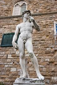 replica david statue by michelangelo buonarroti florence