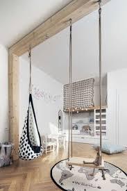 chambre kid chambre enfant moderne lit alcove balancoires parquet bois baby