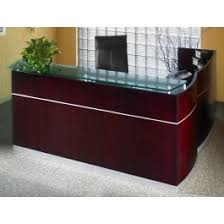L Shaped Reception Desk Counter Mayline Wood Veneer Napoli L Shape Reception Desk With Frosted