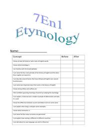 7en1 etymology booklets doc spelling and phonics pinterest