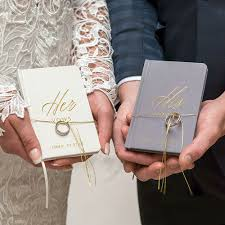 his and hers wedding his hers wedding vow journals