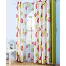 Bright Colored Curtains Floral Linen Bright Colored Curtains
