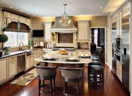 Top Kitchen Cabinet Decorating Ideas Kitchen With Eating Area Modern Large White Marble Island Top