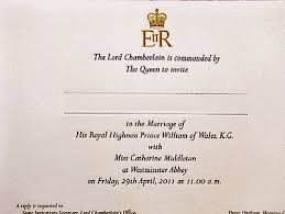 royal wedding invitation list of wedding guests of prince william and catherine middleton