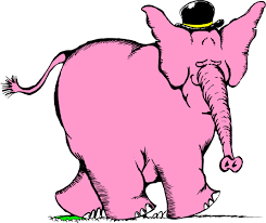 cartoon pink elephant pictures
