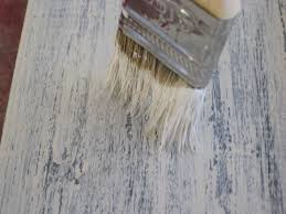 dry brushing paint stain technique faux wood workshop