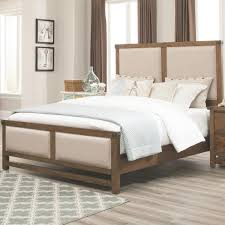 coaster 204171q bridgeport upholstered queen bed in weathered acacia
