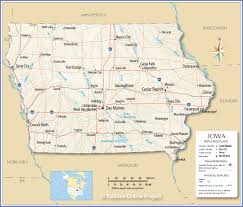 National Park Map Usa by Reference Map Of Iowa Usa Nations Online Project