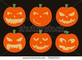 halloween vector card template halloween illustration stock vector