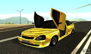 golden cars lada priora gold for gta san andreas