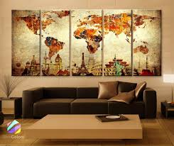 World Map Canvas Art by Amazon Com Xlarge 30