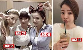 Asian Lady Aging Meme - youthful taiwanese woman also has mum and sisters daily mail online