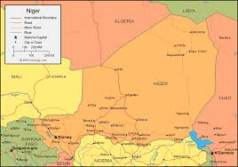 nigeria physical map niger map and satellite image