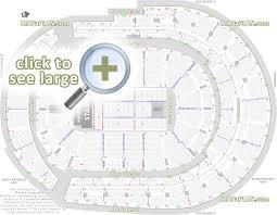 stadium floor plan bridgestone arena seat row numbers detailed seating chart