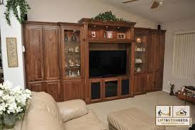 glass cabinet doors for entertainment center arizona custom entertainment centers lift stor beds