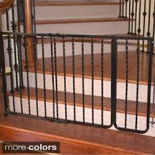 Safety Gates For Stairs With Banisters Regalo Top Of Stairs 2 In 1 Extra Tall Safety Gate Free Shipping