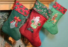 Christmas Stocking Decorations Machine Embroidery Designs At Embroidery Library Embroidery Library