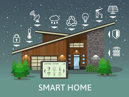 Home Design Vector Free Download Smart Home Flat Template Vector 04 Vector Life Free Download